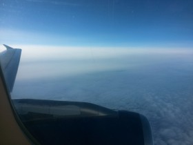 Airplane view from the sky