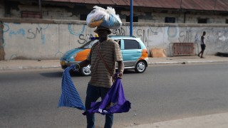 Street Hawking on a bright day, James town, Accra