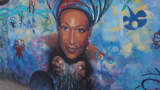 Water is life. Mural Wall Painting, James town, Accra